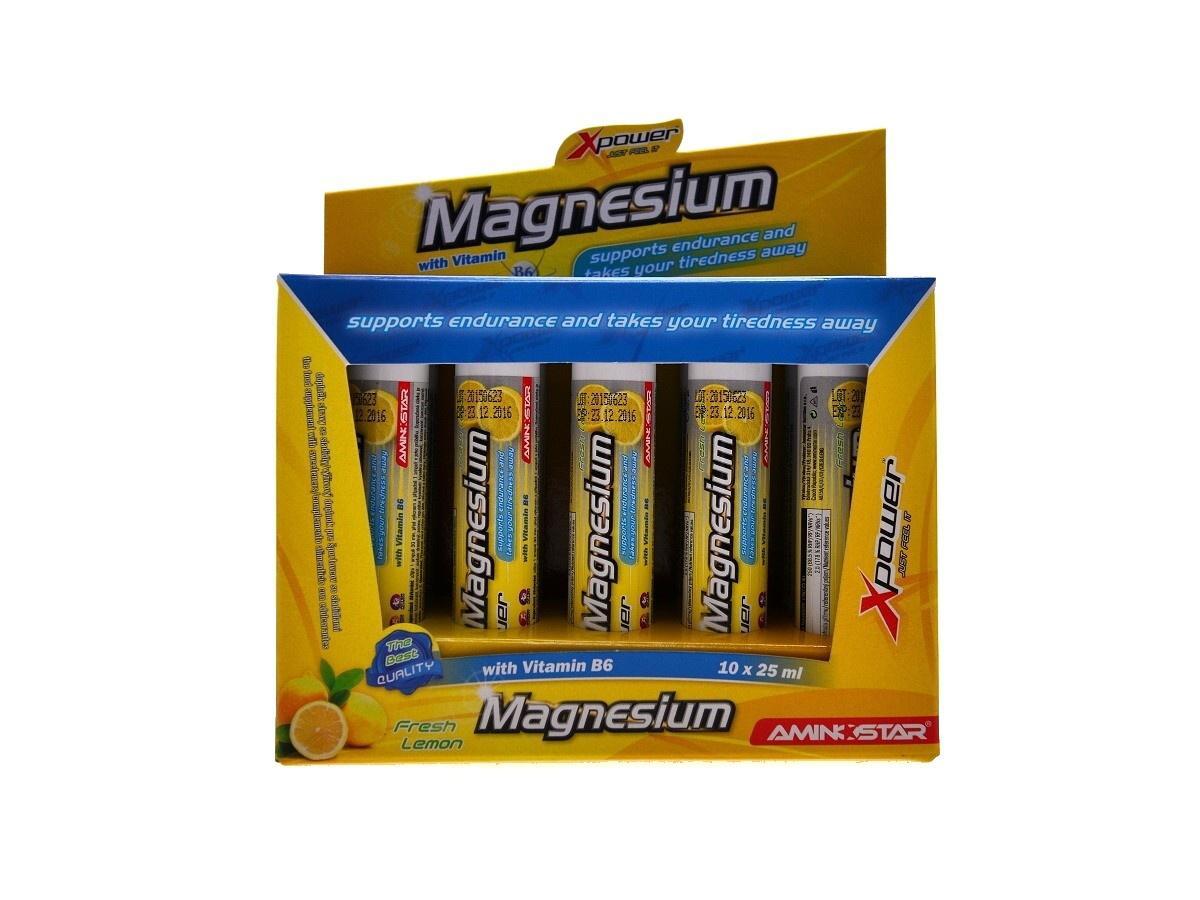 Aminostar Xpower Magnesium 10 x 25 ml citron