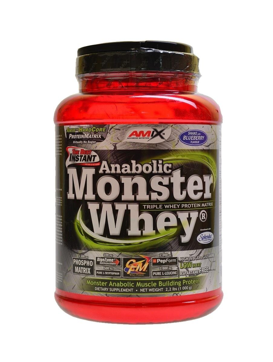 Amix Anabolic Monster Whey 1000 g - blueberry shake